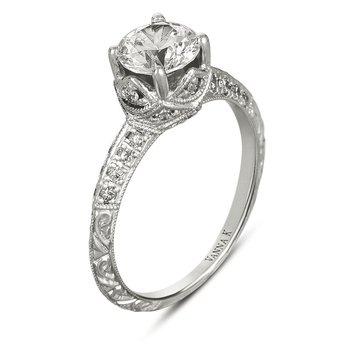 Vanna K Women's Engagement Ring - 18RGL00413DCZ