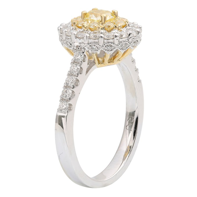 Roman & Jules Double Halo Oval Cut Diamond Ring
