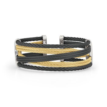 Black & Yellow Cable Petite Interlaced Bracelet