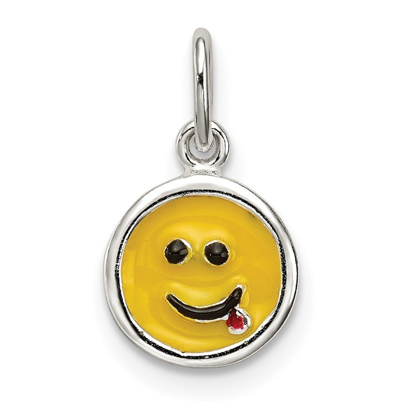 Quality Gold Sterling Silver Enameled Emotion Face Charm
