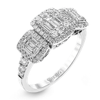 Simon G Simon G trinity style mosaic ring, 70=0.48ct of round diamonds and 15=0.44ct of baguette diamonds. Available at our Halifax store.