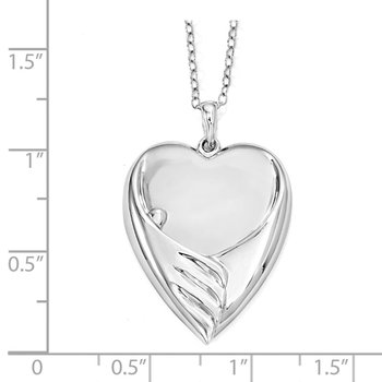 Sterling Silver Forever My Baby 18in. Necklace