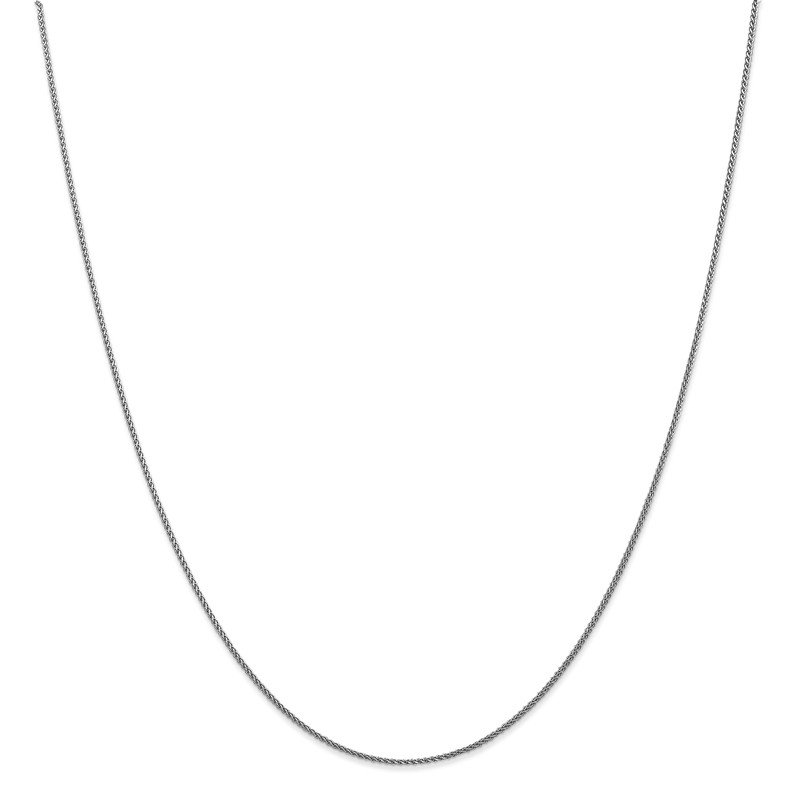 Leslie's Leslie's 10K White Gold 1mm D/C Wheat Chain