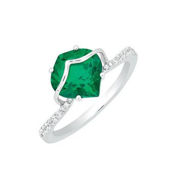 Emerald Ring-CR8209WEM