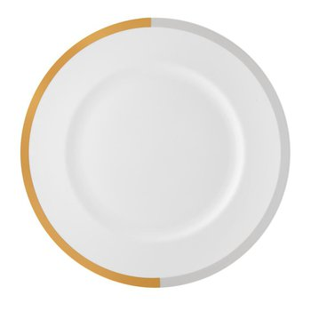 Vera Castillon Gold/Gray Dinner Plate 10.75""