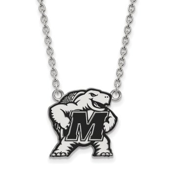 Sterling Silver University of Maryland NCAA Necklace