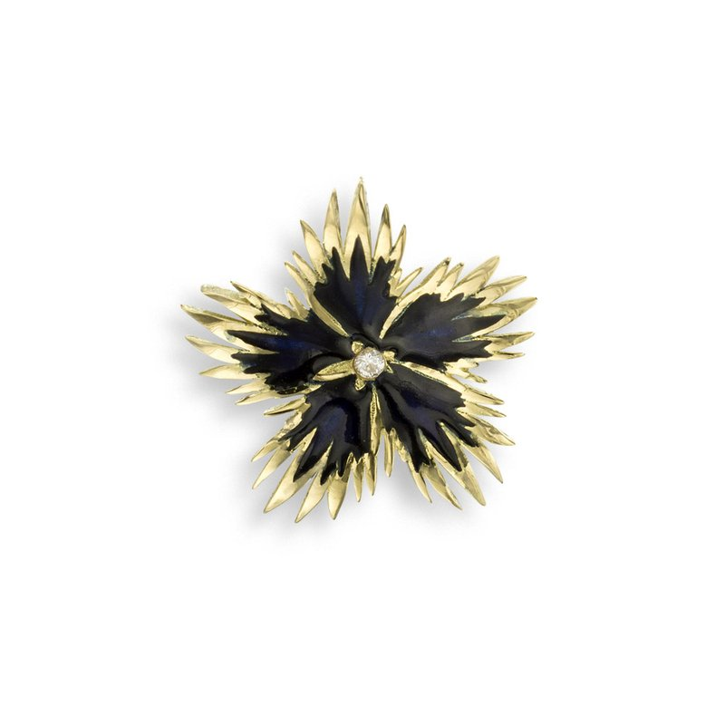 Nicole Barr Designs Black Rock Flower Pendant.18K -Diamond