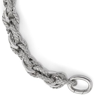 Leslie's Sterling Silver Polished and Textured Bracelet