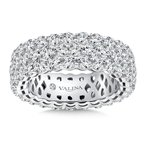 Valina Valina Eternity Band (Size 6.5) in 14K White Gold (4.93ct. tw.)