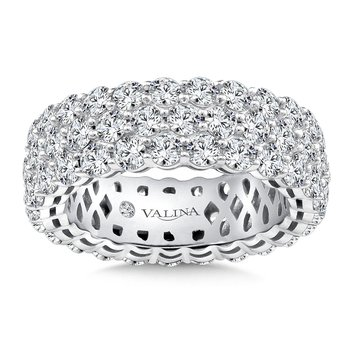 Valina Eternity Band (Size 6.5) in 14K White Gold (4.93ct. tw.)
