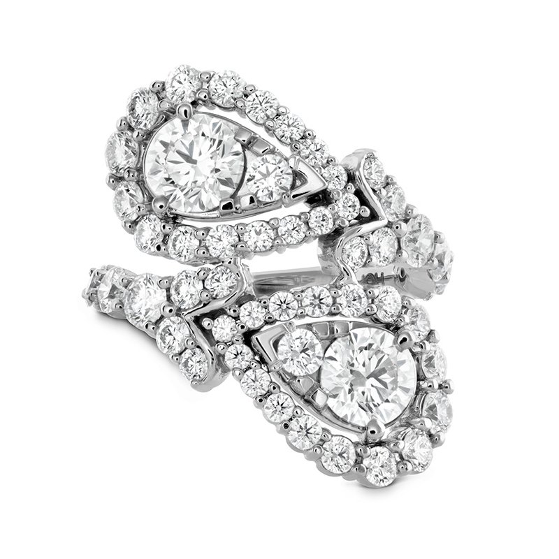 Hearts on Fire 3.8 ctw. Aerial Victorian Bypass Diamond Ring