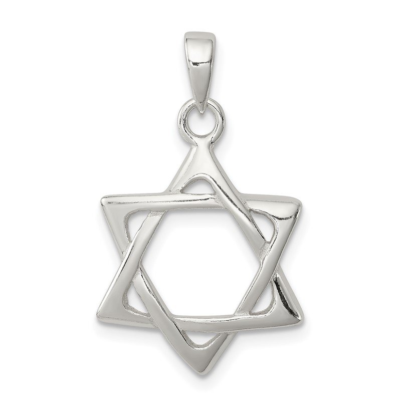 Quality Gold Sterling Silver Star of David Pendant