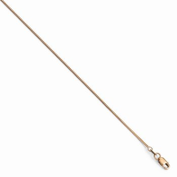 Leslie's 14K Rose Gold .8 mm Box w/Lobster Chain