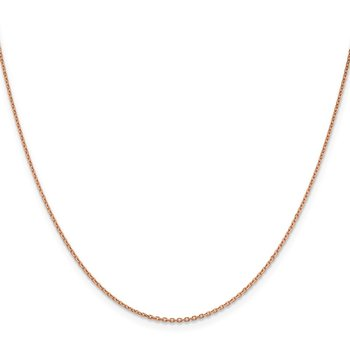 14k Rose Gold 1.4mm D/C Cable Chain