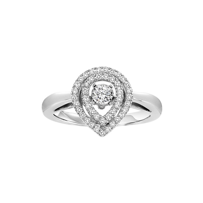 Rhythm of Love 10K Diamond Rhythm Of Love Ring 1/3 ctw