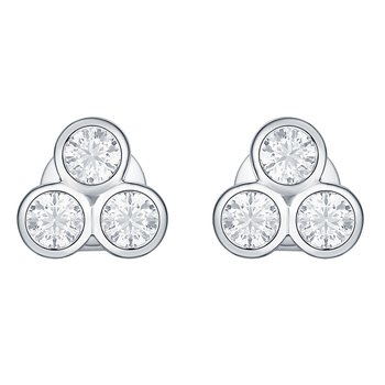 Smiling Rocks 0.49Ct G-H/VS1 Lab Grown Diamond Three Stone Earring
