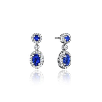 Set the Scene Sapphire and Diamond Dangle Earrings