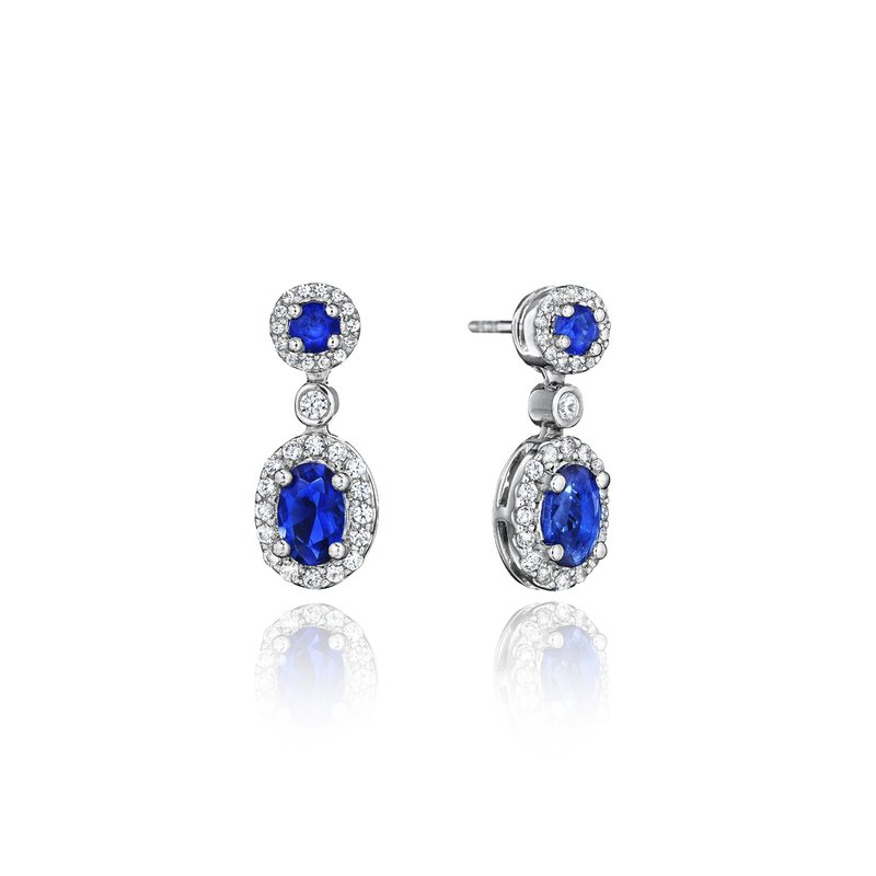 Fana Set the Scene Sapphire and Diamond Dangle Earrings