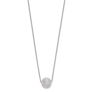 Leslie's SS Radiant Essence Rhodium-plated Necklace w/2in ext