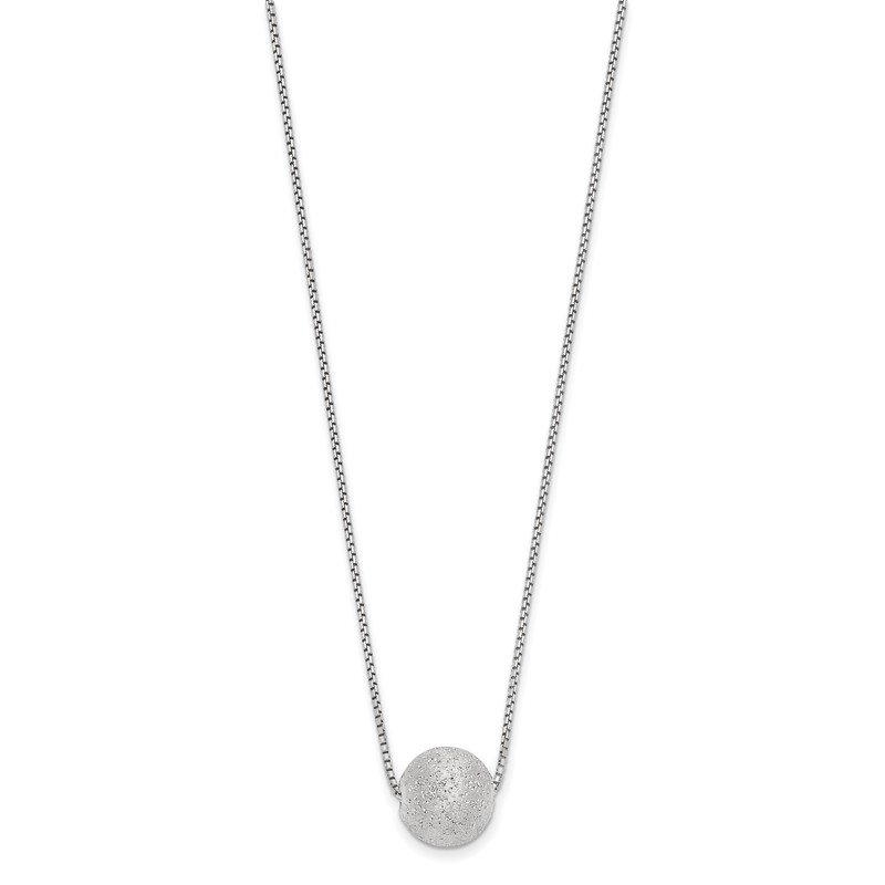 Leslie's Leslie's SS Radiant Essence Rhodium-plated Necklace w/2in ext