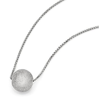 Leslie's SS Radiant Essence Rhodium-plated w/2in ext. Necklace