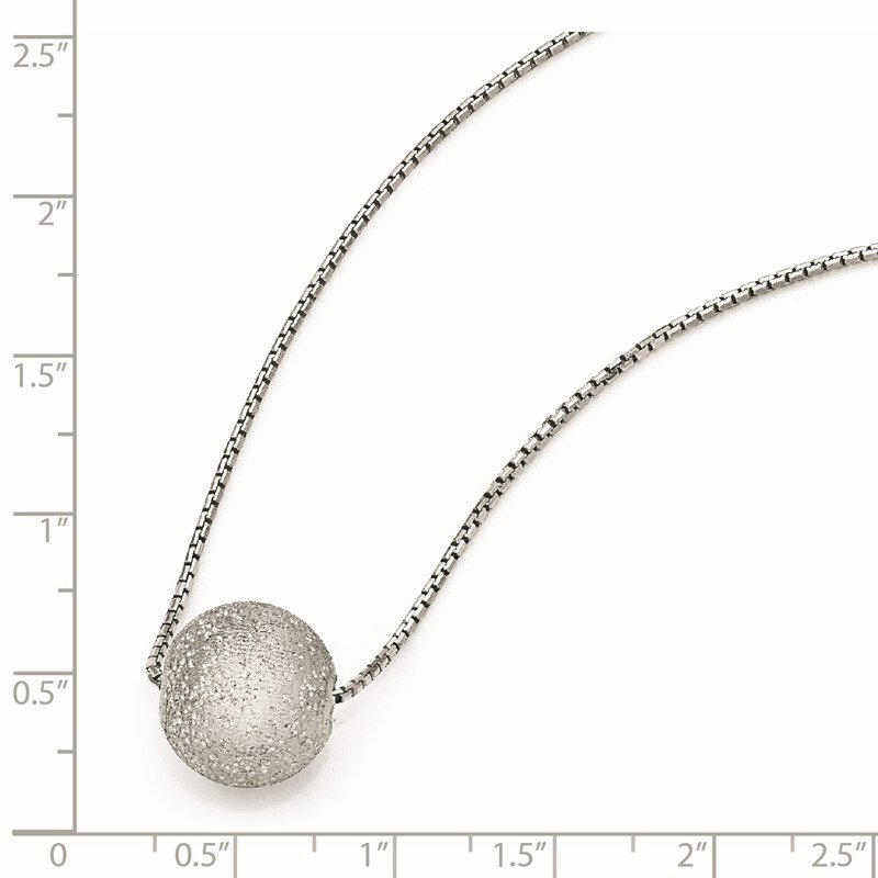 Leslie's Leslie's SS Radiant Essence Rhodium-plated w/2in ext. Necklace