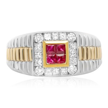 Men's Ruby & Diamond Ring