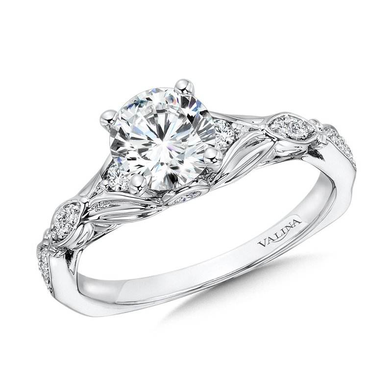 Valina Bridals Vintage Tapered Diamond Engagement Ring