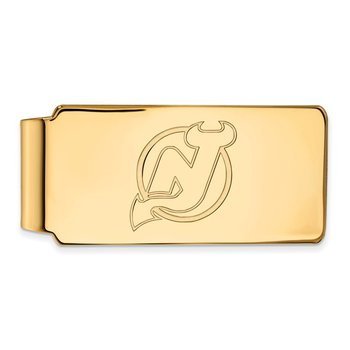 Gold-Plated Sterling Silver New Jersey Devils NHL Money Clip