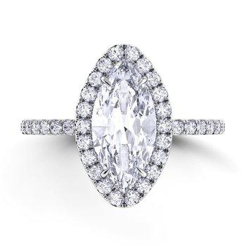 Danhov Women's Engagement Ring - LE105-MQ