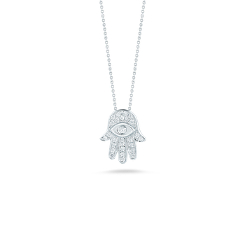 18KT GOLD HAMSA PENDANT WITH DIAMONDS