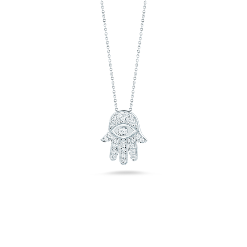 Roberto Coin 18Kt Gold Hamsa Pendant With Diamonds