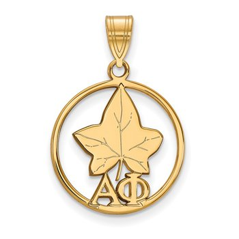 Gold-Plated Sterling Silver Alpha Phi Greek Life Pendant