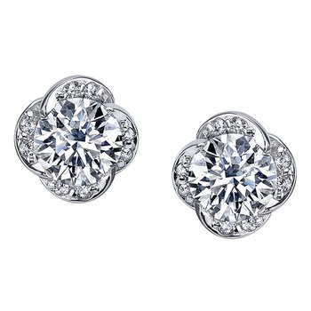 Maple Leaf Diamond Wind's Embrace Stud Earrings
