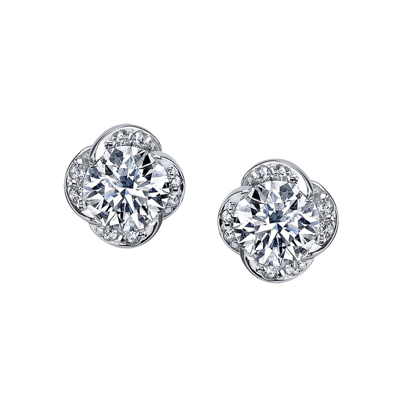 Maple Leaf Diamonds Maple Leaf Diamond Wind's Embrace Stud Earrings