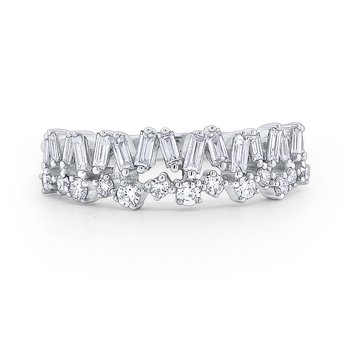 Diamond Mosaic Band Set in 14 Kt. Gold