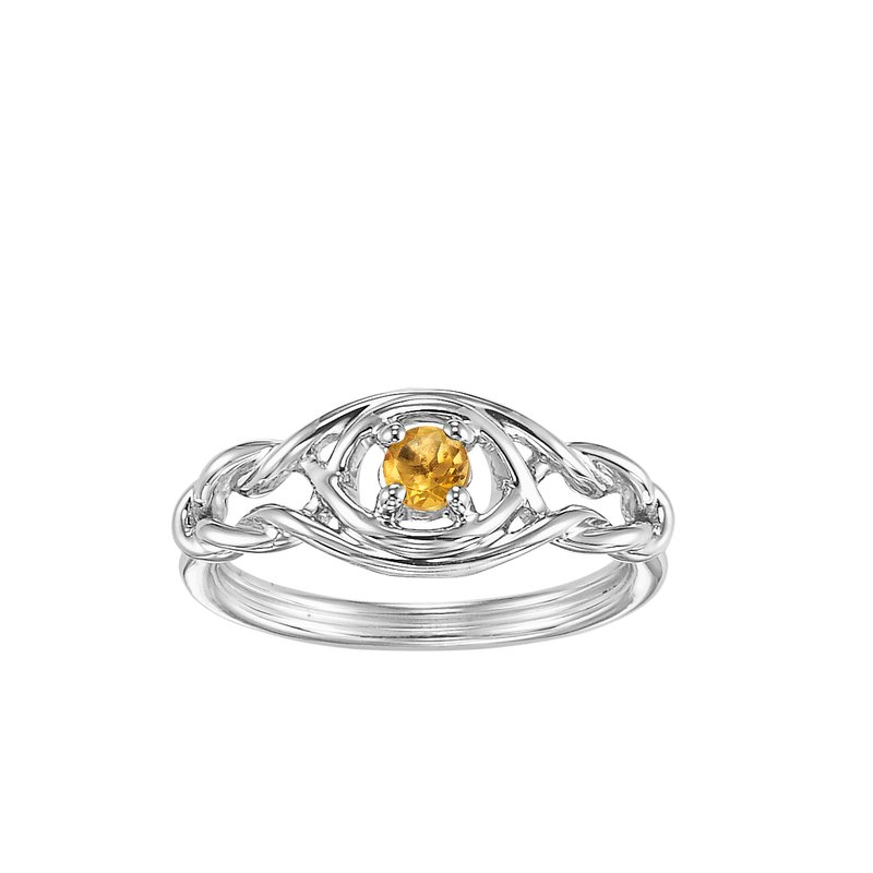 Mixables Silver Citrine Ring (Available In all BirthStones)