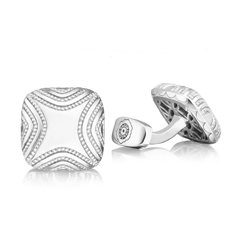 Tacori Fashion Cushion Milgrain Cuff Links