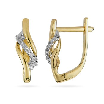 14K YG Diamond Fashion Earring