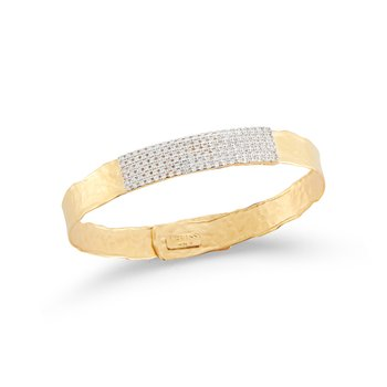 14KY 8mm ID CUFF BRACELET .85CT