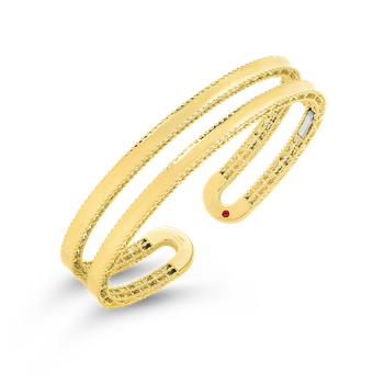 18Kt Gold Double Symphony Princess Cuff