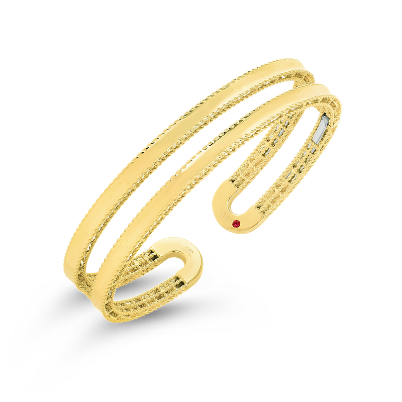 Roberto Coin 18Kt Gold Double Symphony Princess Cuff