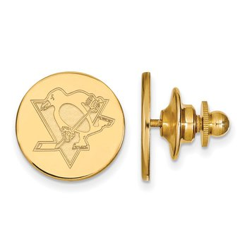 Gold Pittsburgh Penguins NHL Lapel Pin