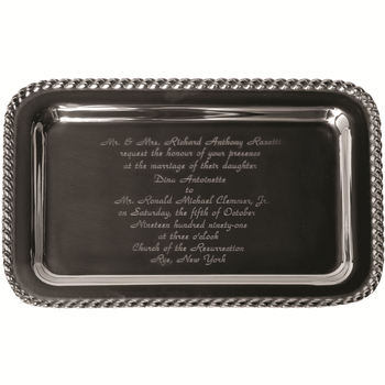 Masthead Small Rect. Tray w/Wedding Invitation