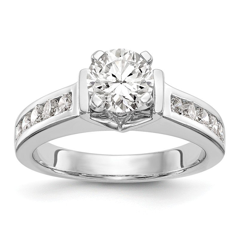 True Origin 14kw True Origin Lab Grown Dia VS/SI D,E,F Peg Set Engagement Ring