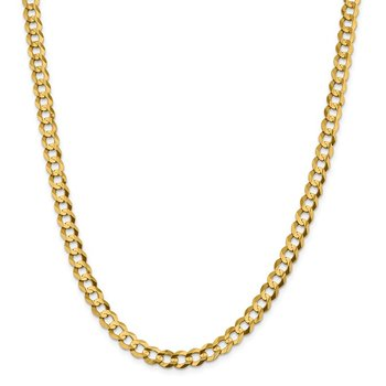 14k 7.2mm Lightweight Flat Cuban Chain