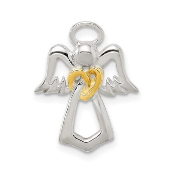 Sterling Silver & Gold tone Angel Chain Slide