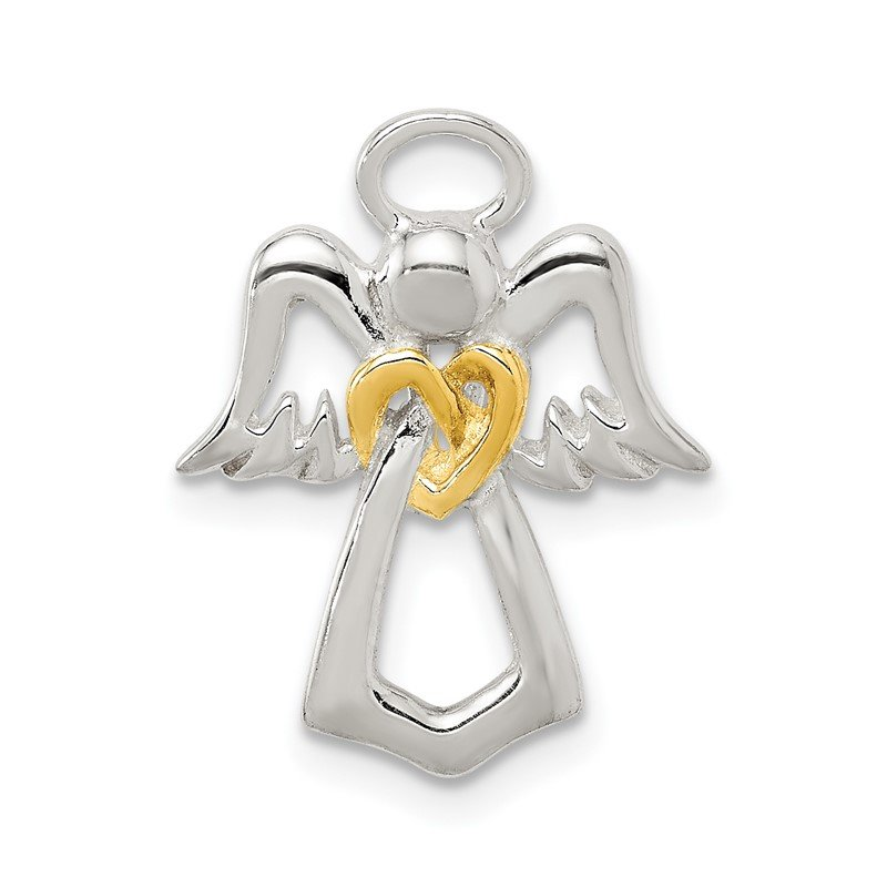 Quality Gold Sterling Silver & Gold tone Angel Chain Slide