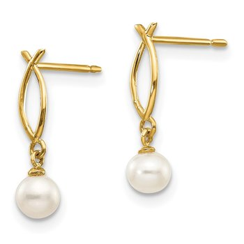 14k Madi K FW Cultured Pearl Children's Post Earrings