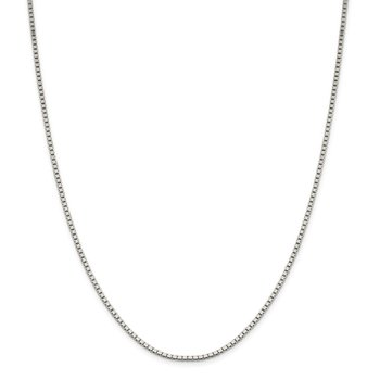 Sterling Silver 1.9mm Box Chain